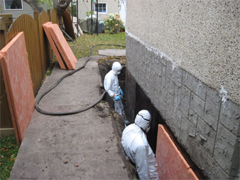 Faq lety construction foundation repair waterproofing slab waterproof membrane on an existing home solutioingenieria Choice Image